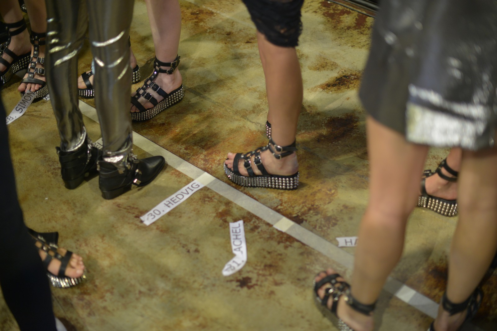 Shoe close-up backstage Philipp Plein