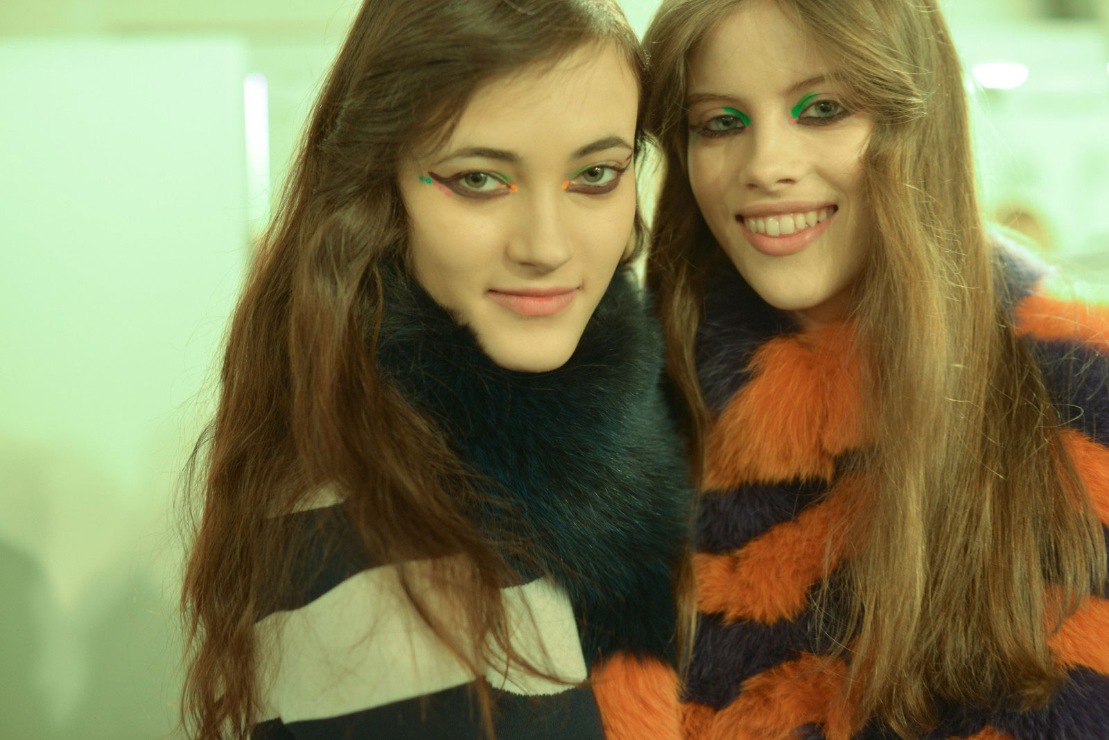 Up close backstage make-up looks during FENDI AW16 Milan fashion week