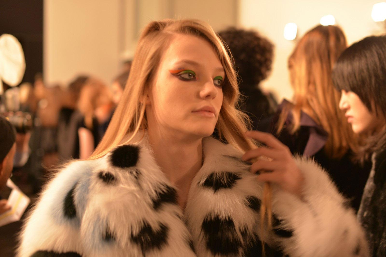Backstage FENDI milan fashionweek